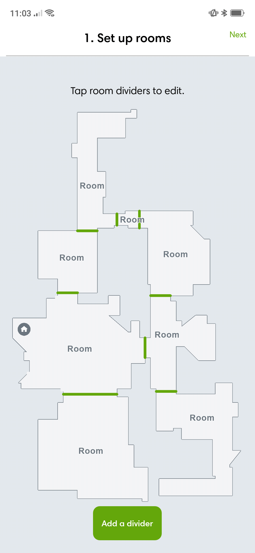 Roomba i7 floorplan 1