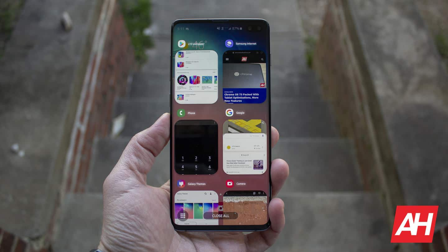 Samsung Galaxy S10 Plus AH NS multitasking overview recents 02 good lock