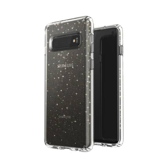 Speck Presidio Stay Clear Glitter case Galaxy S10 3