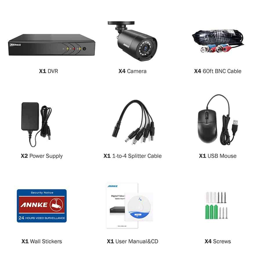 Annke 4CH 1080p security camera system Lite image 2