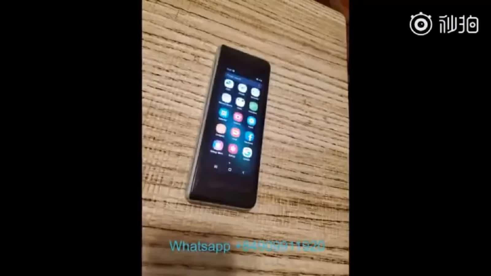 Galaxy Fold Leak Video In Use 2