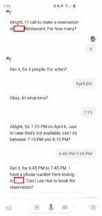 Google Duplex Samsung Galaxy S10 Plus 1