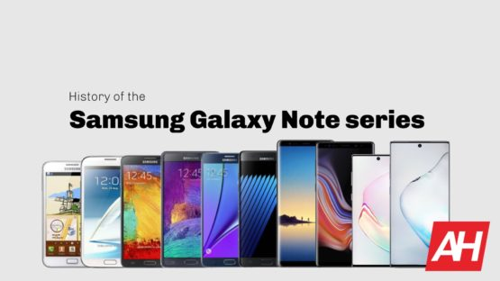 Samsung Galaxy Note history August 2019