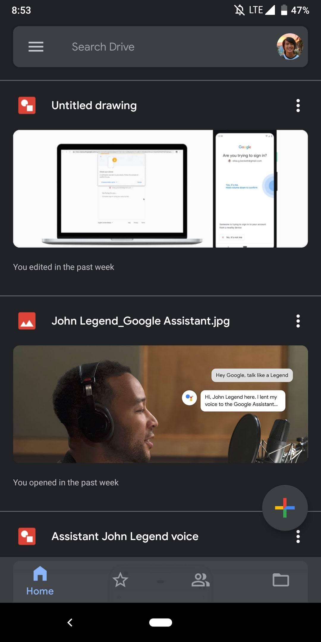Google Drive Dark Mode