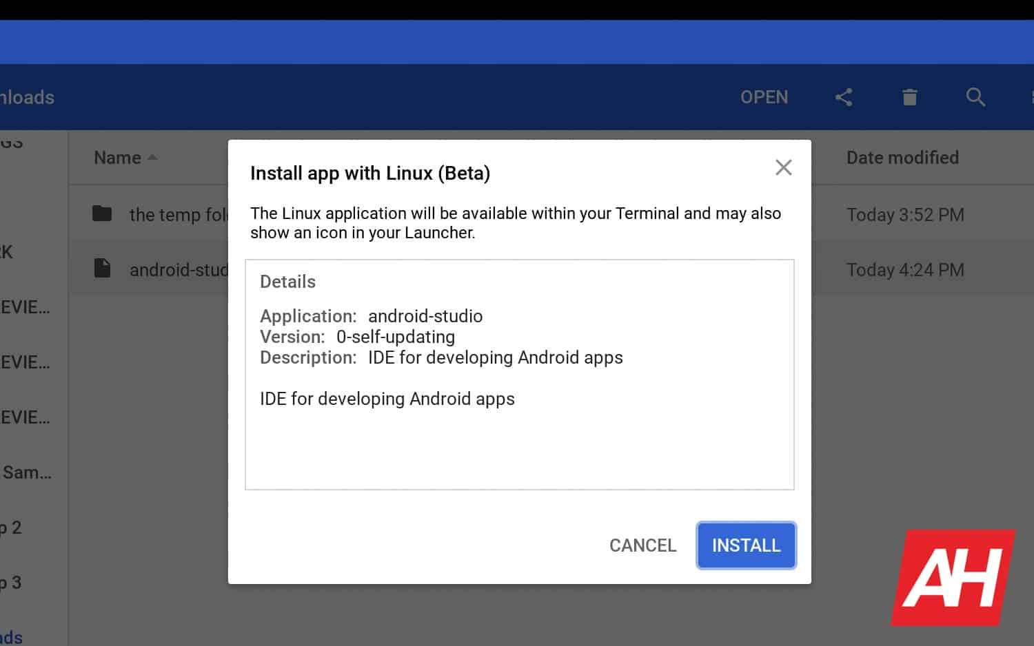 13 How to install Android Studio Chrome OS AH 2019
