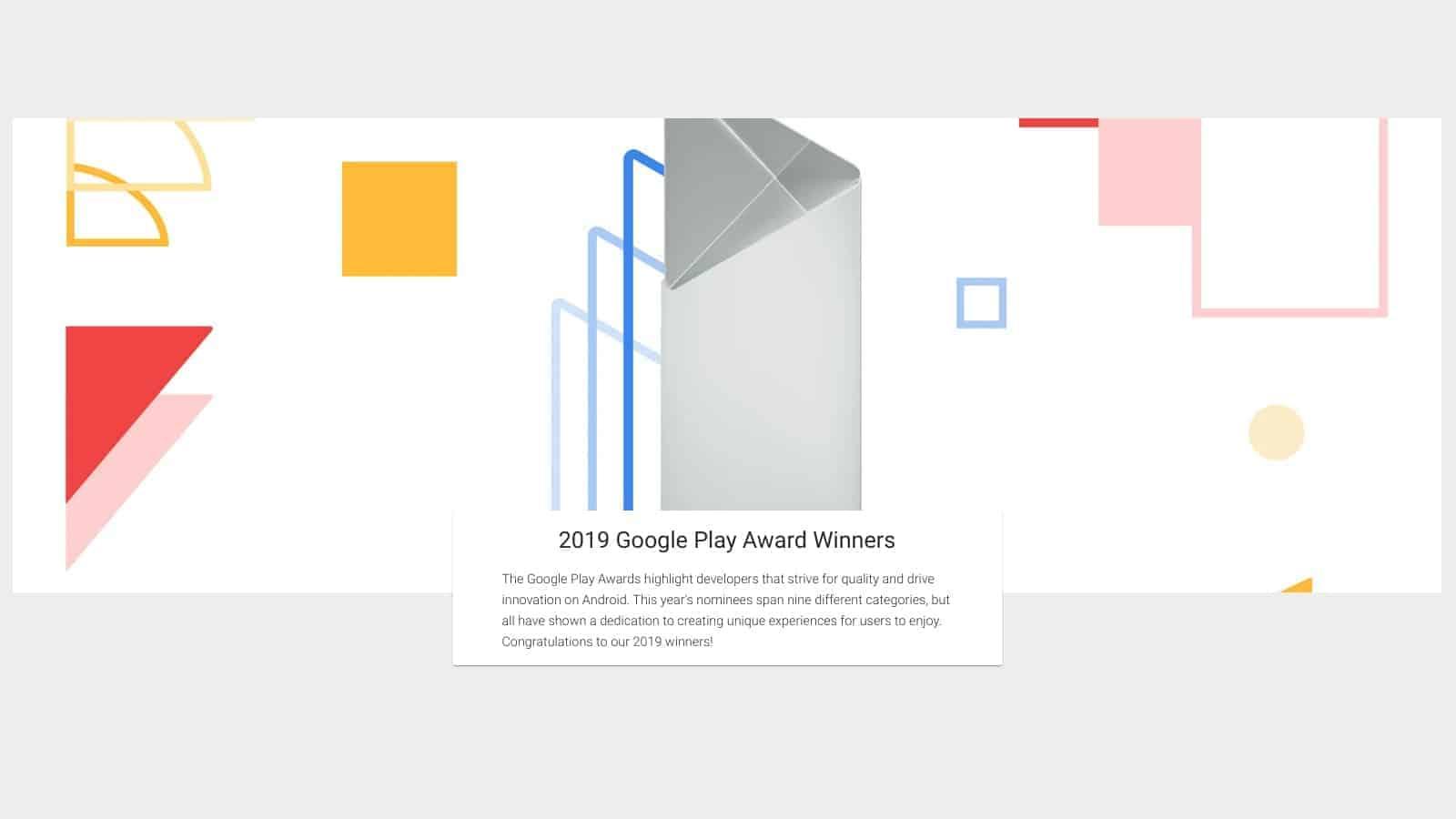 2019 Google Play Award winners 1