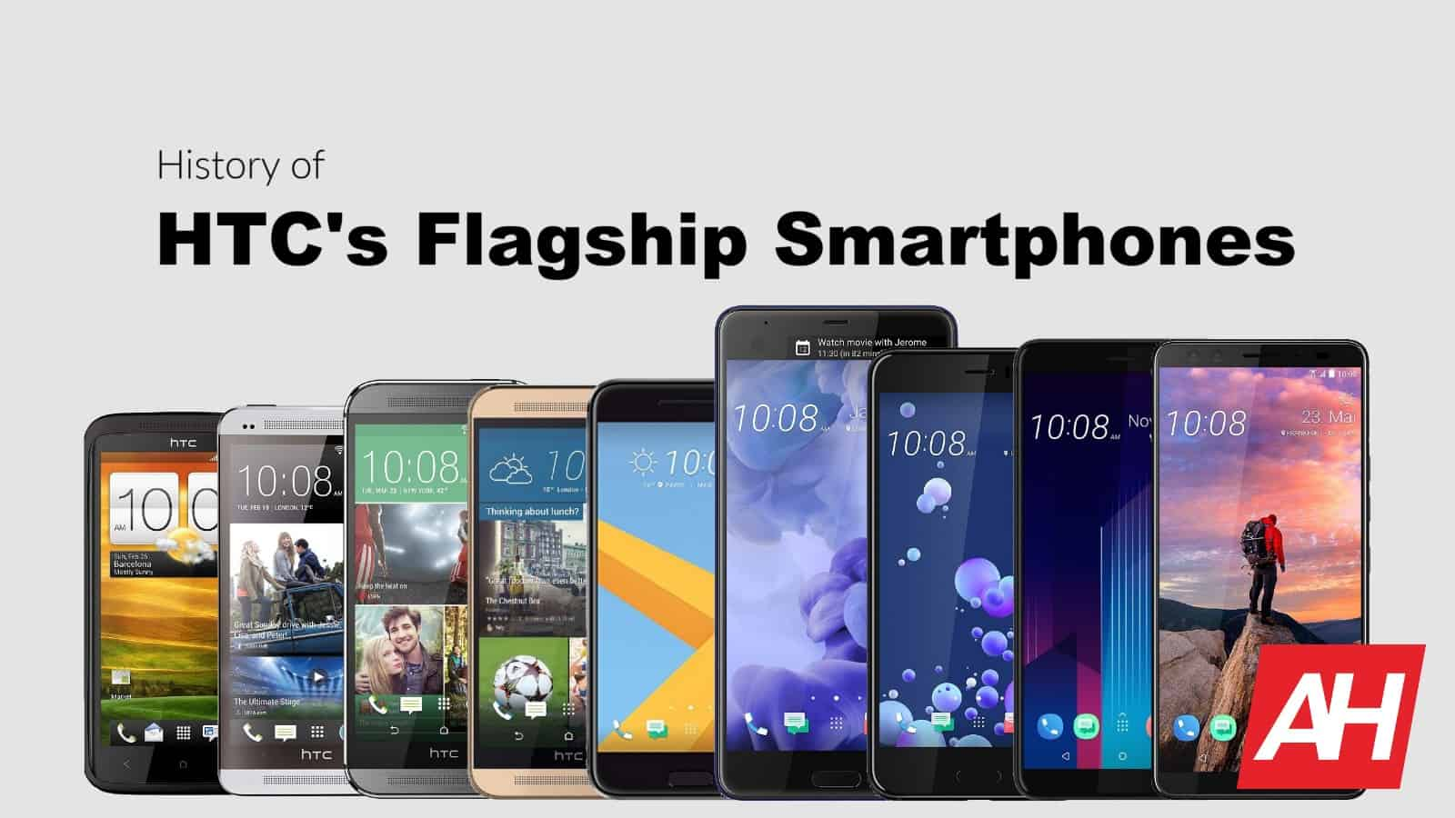 AH HTC flagship smartphone history May 2019