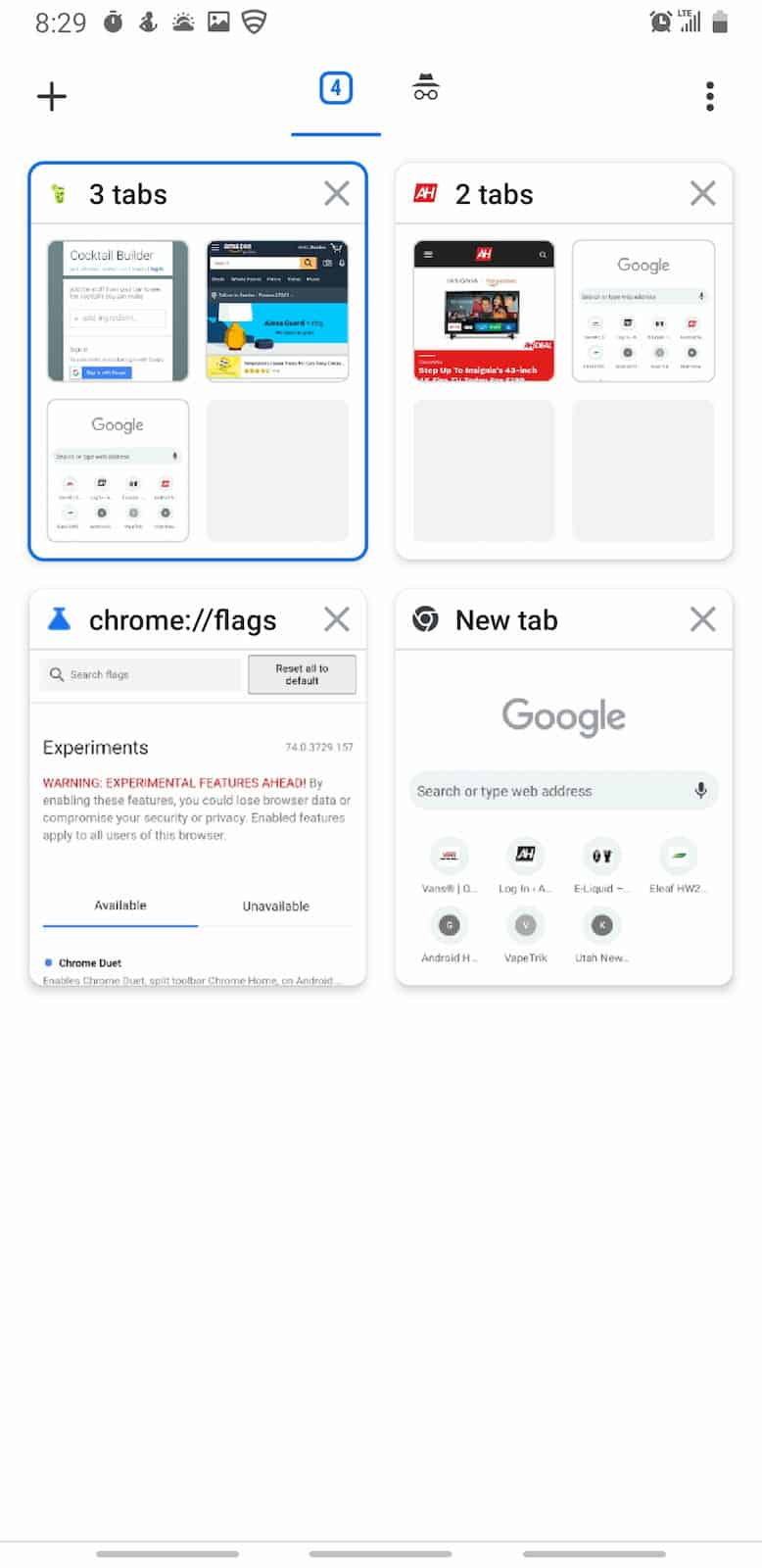 Chrome Android Group Tabs Screenshot Stable 03