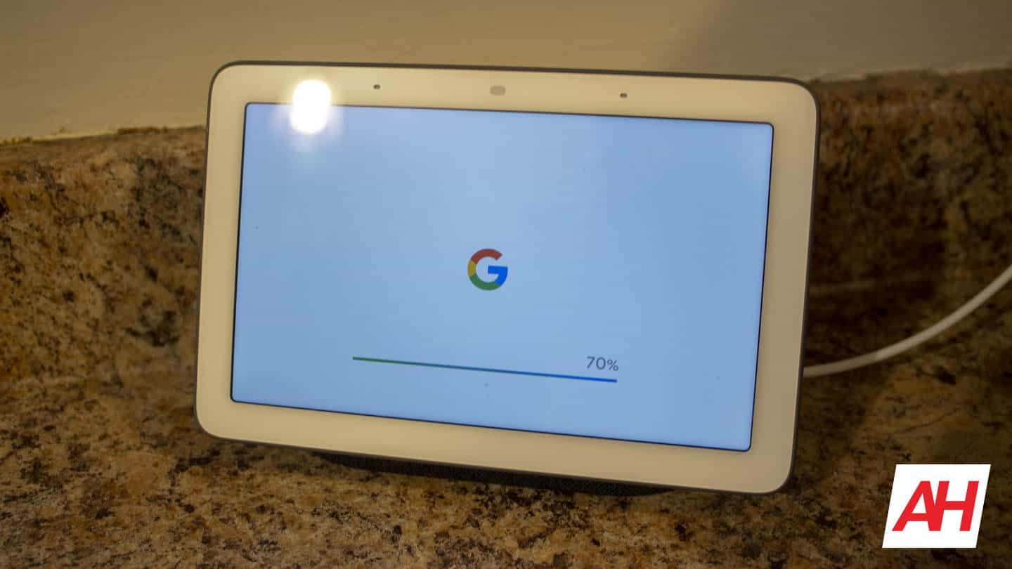 Google Nest Home Hub AH NS Software Update