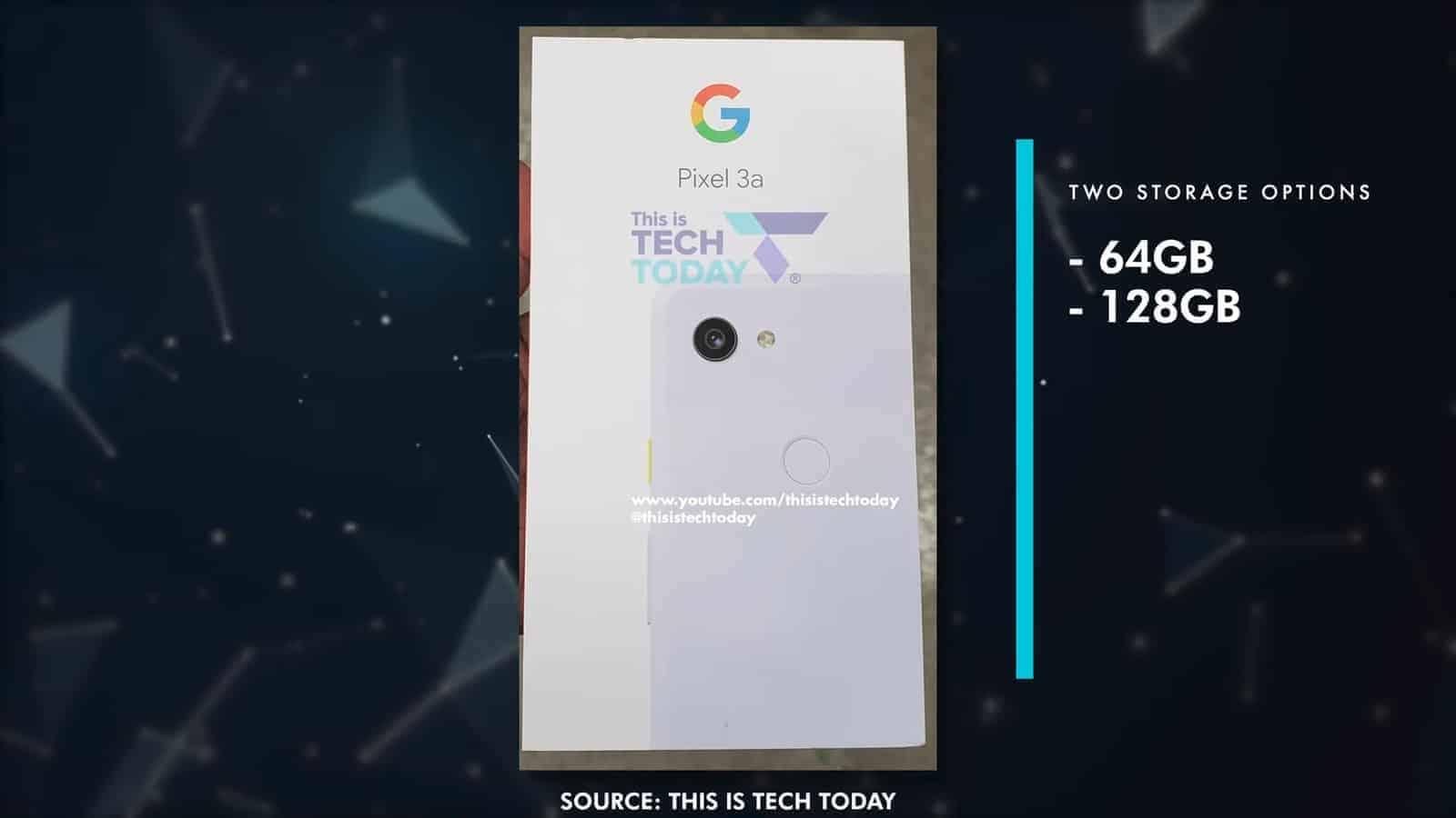 Google Pixel 3a packaging leak 1
