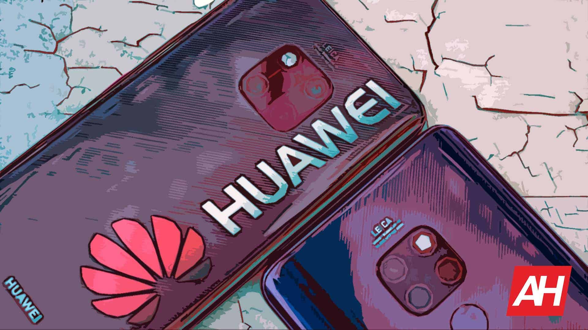 Huawei Illustration Smartphones Devices Logo AH May 20 2019