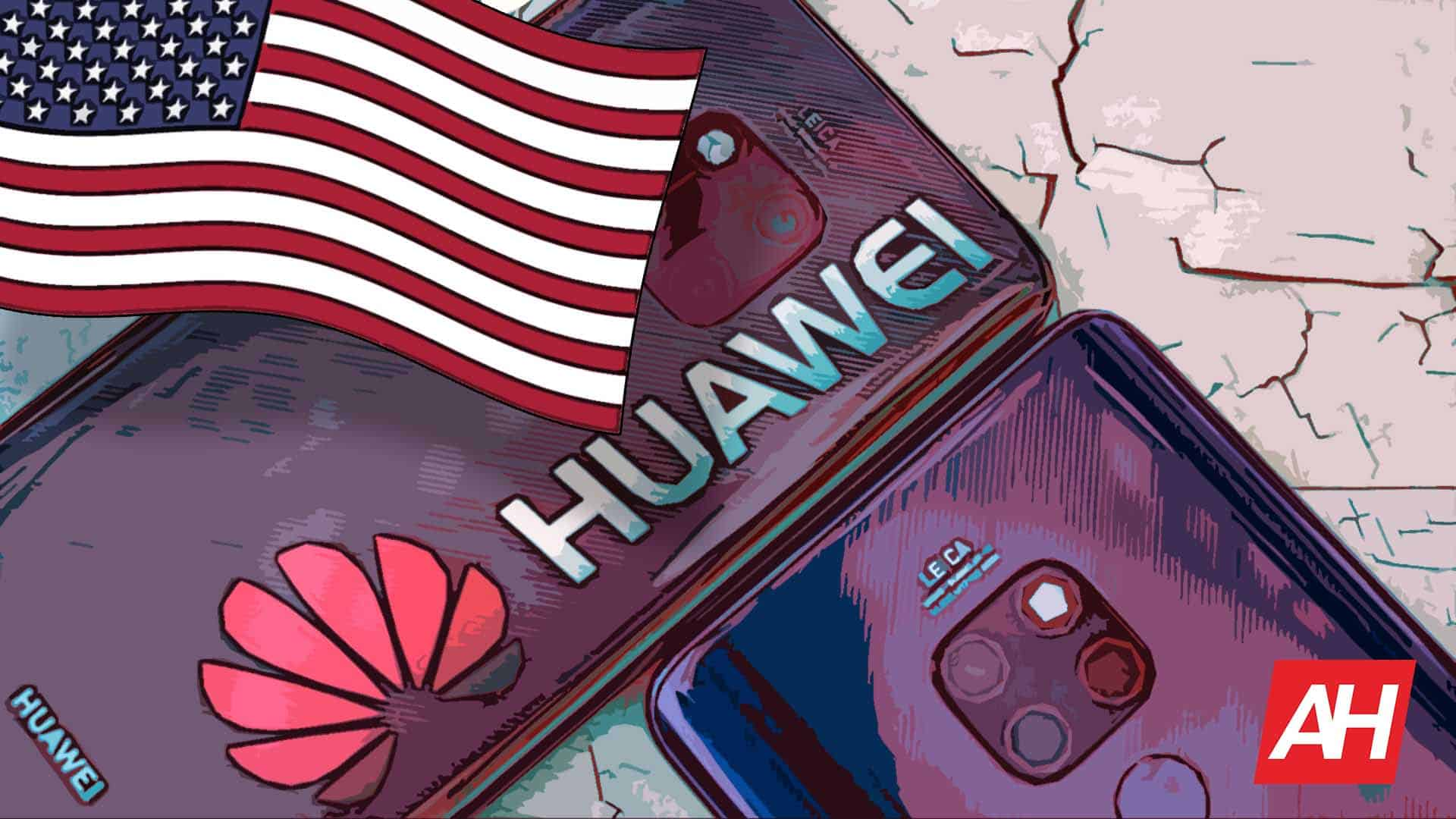 Huawei Logo Smartphones USA US America Flag Illustration AH May 20 2019