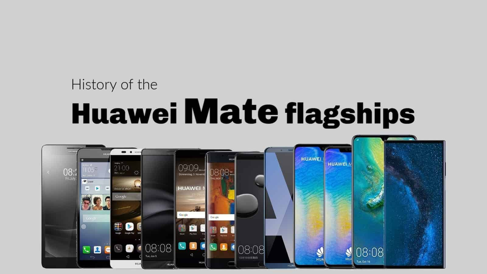 Huawei Mate flagships history final