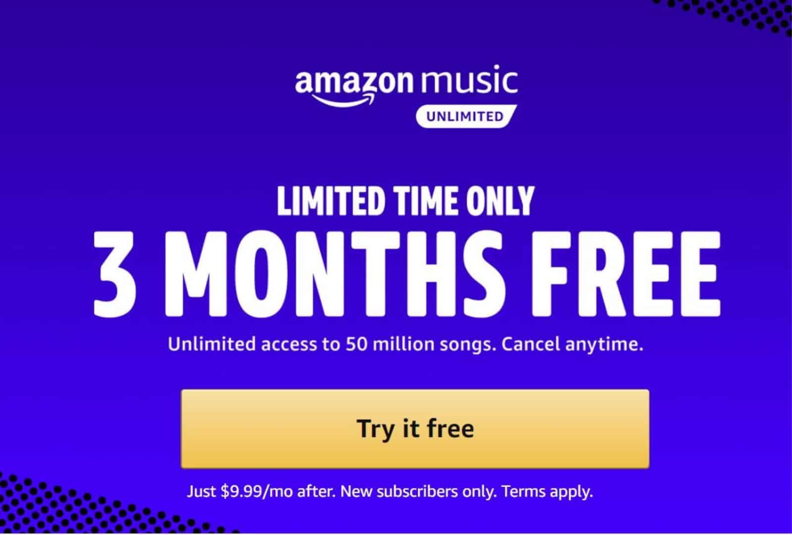 amazon music unlimited deal AH