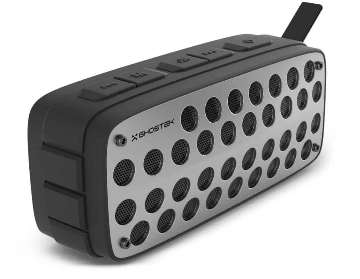 ghostek forge series premium rugged wireless speaker black gray