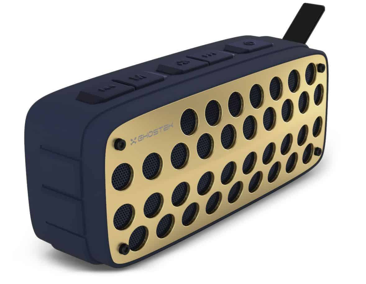 ghostek forge series premium rugged wireless speaker blue gold