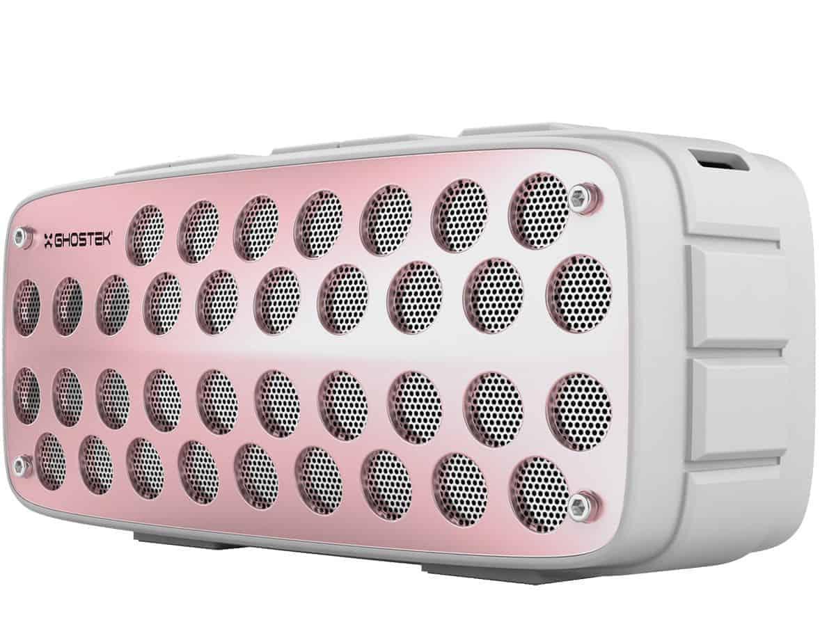 ghostek forge series premium rugged wireless speaker white pink 4