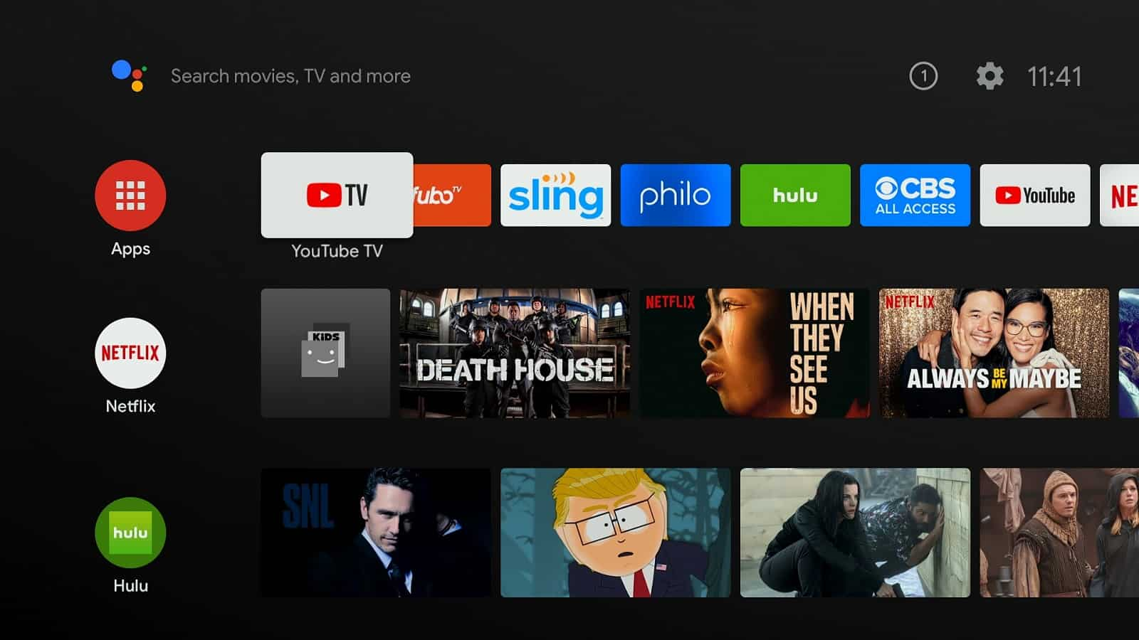 Android TV Various Screens 01