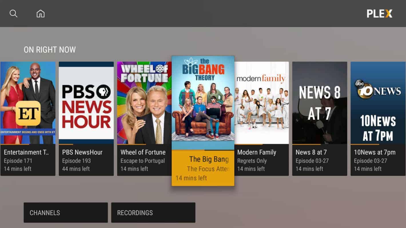 Plex Live TV Android TV 1