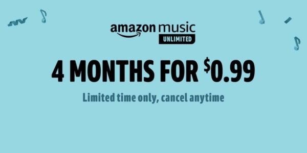 4 Months of Amazon Music Unlimited - Amazon