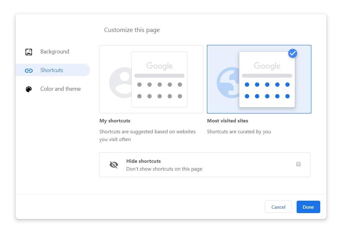 google chrome 77 customization shortcuts from TechDows