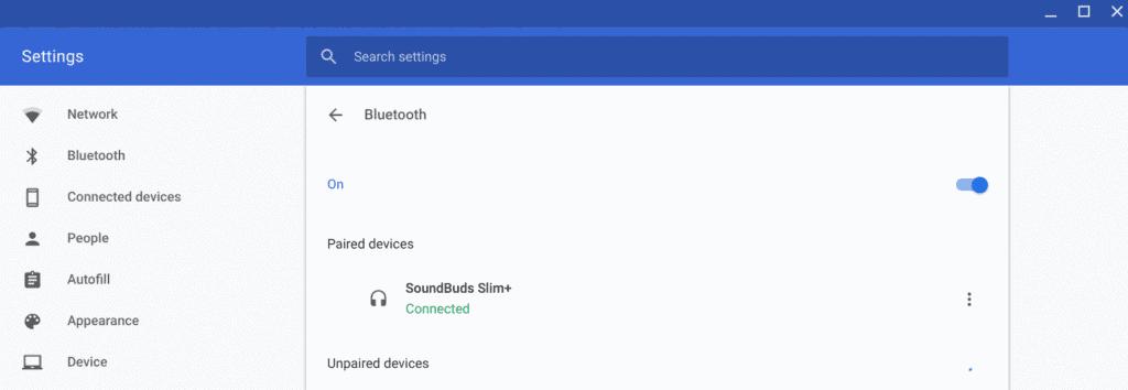 Chrome OS Blueooth