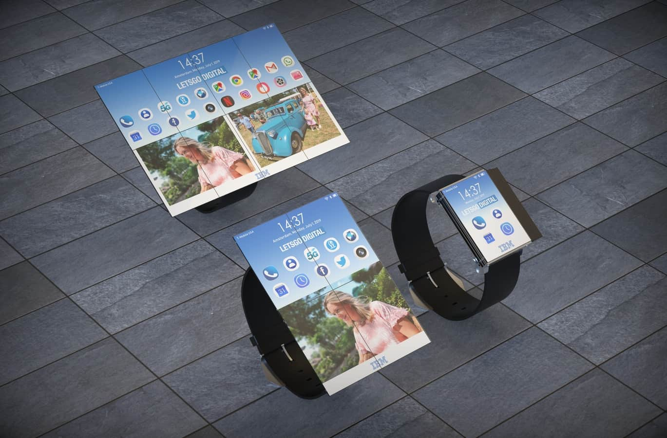 IBM smartwatch patent 1