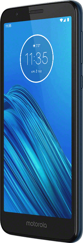 Moto E6 Navy Blue Front Angle