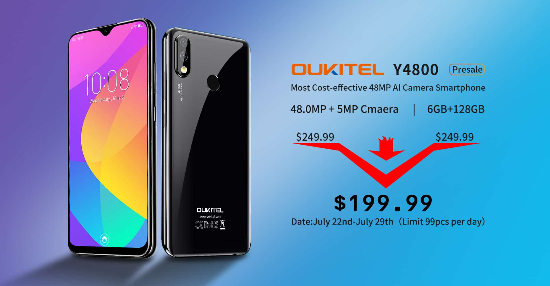 OUKITEL Y4800 sale at 199.99