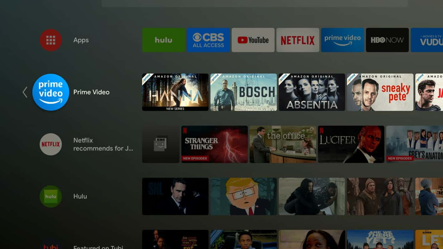 Prime Video Android TV Channel 1