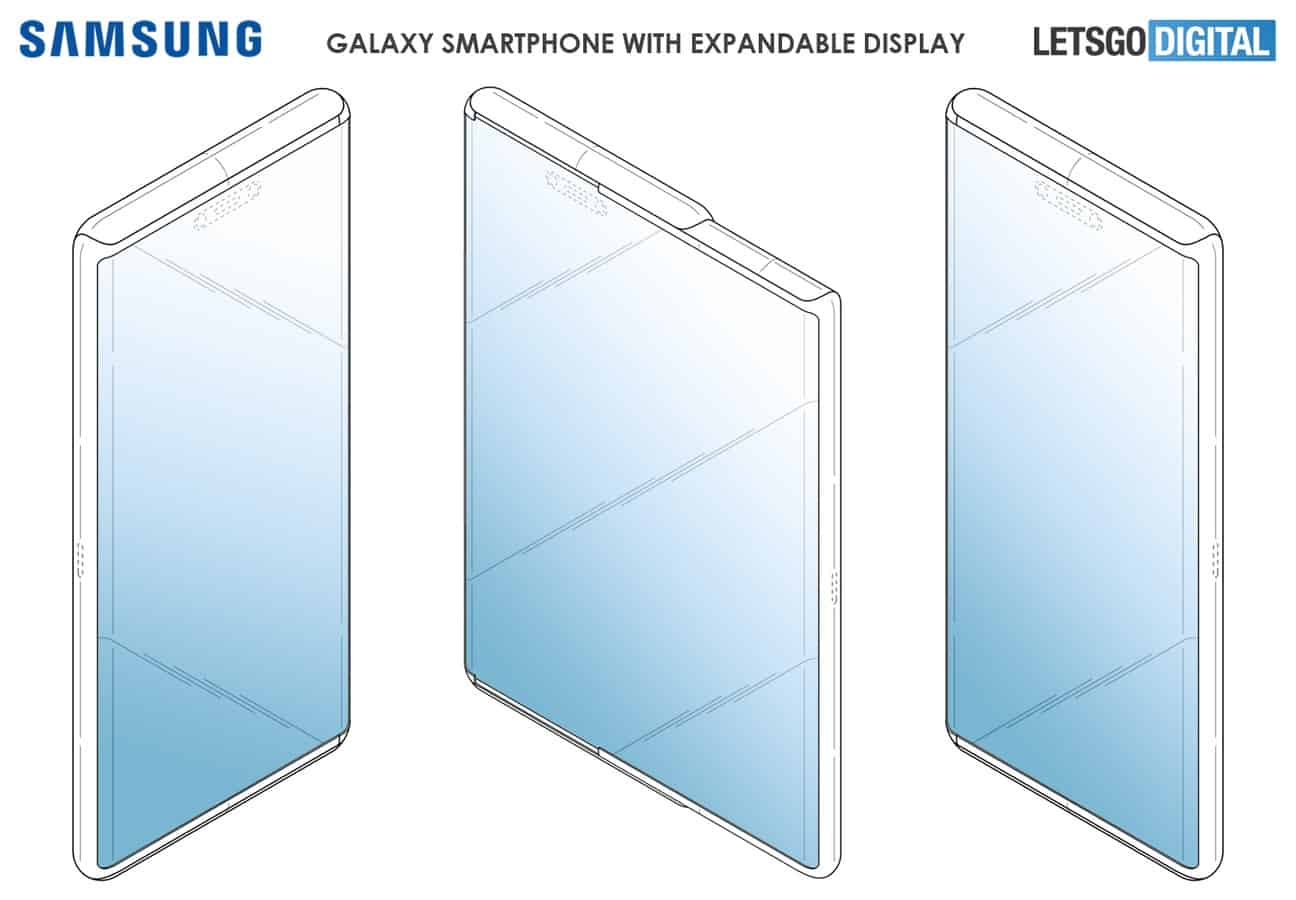 Samsung smartphone retractable display patent 2