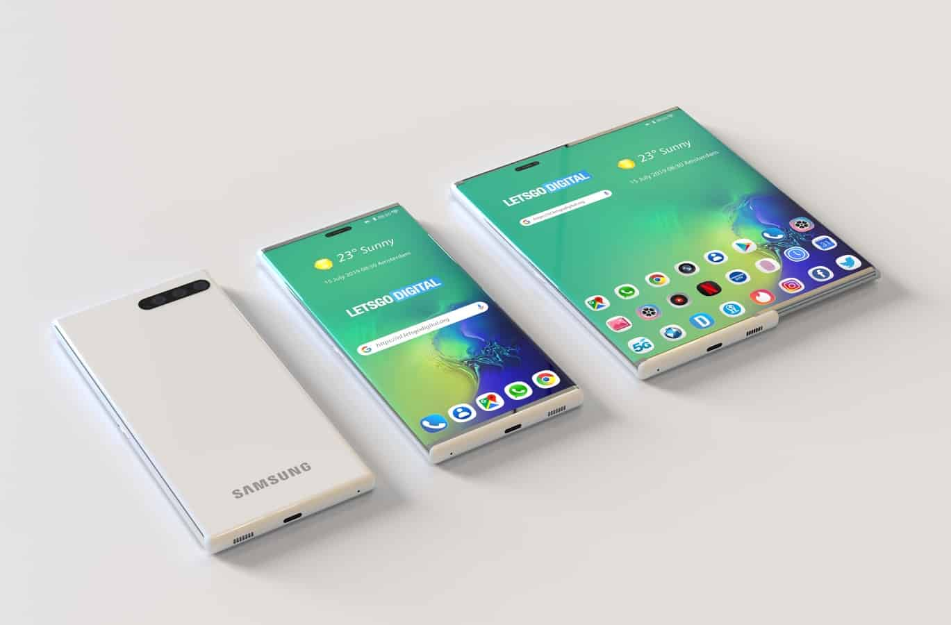 Samsung smartphone retractable display patent 7