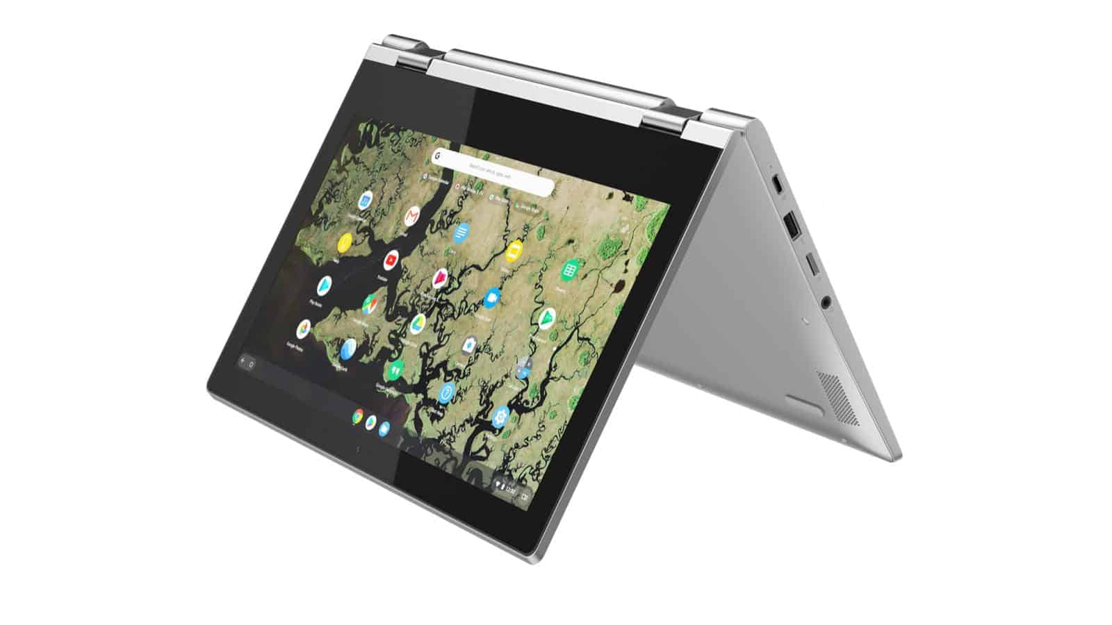 02 Lenovo Chromebook C340 11inch Platinum Grey tent