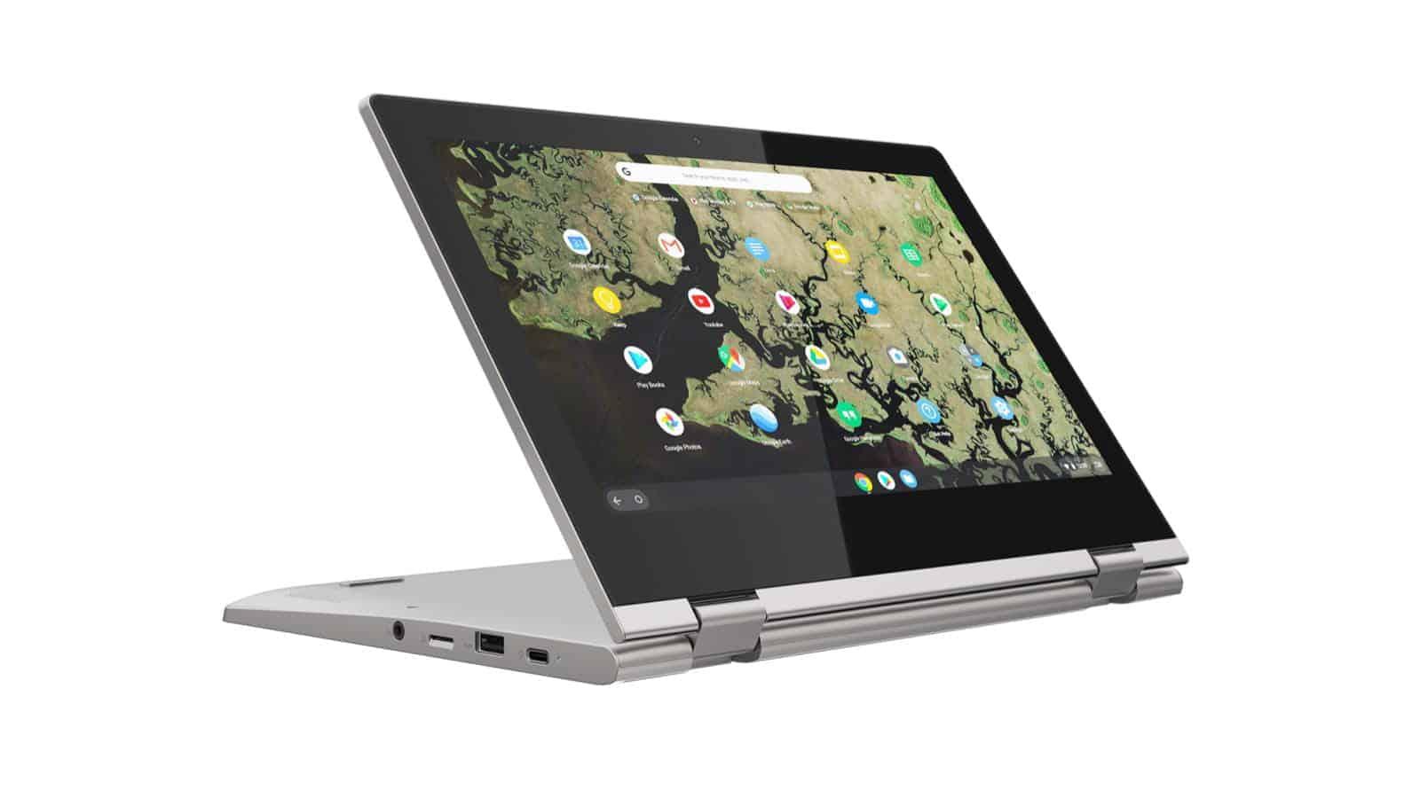 03 Lenovo Chromebook C340 11inch Platinum Grey presentation