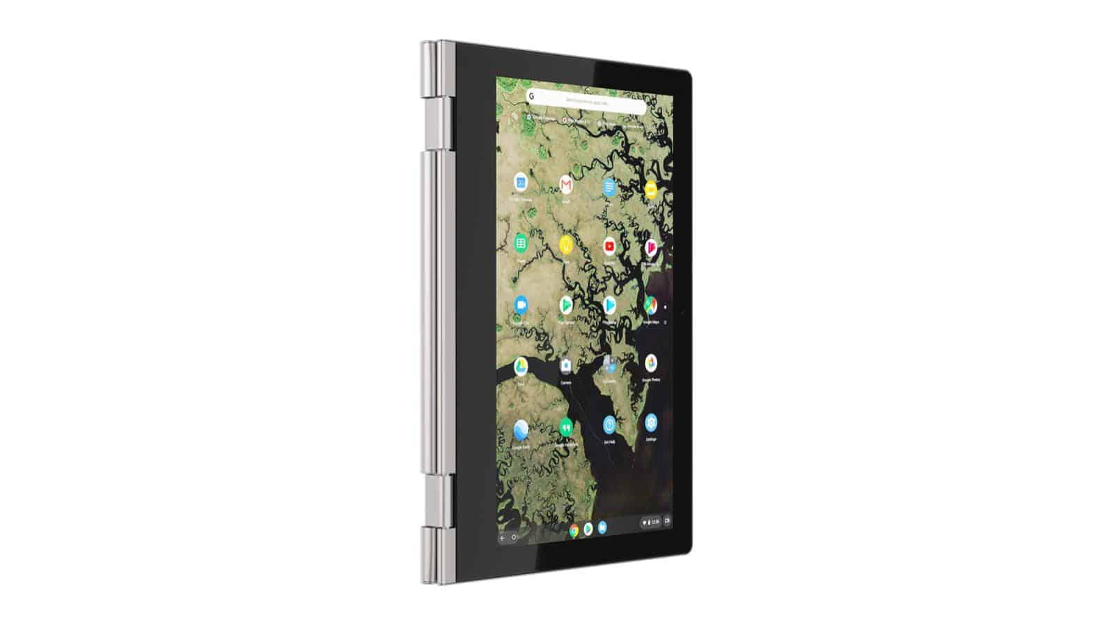 04 Lenovo Chromebook C340 11inch Platinum Grey tab vertical