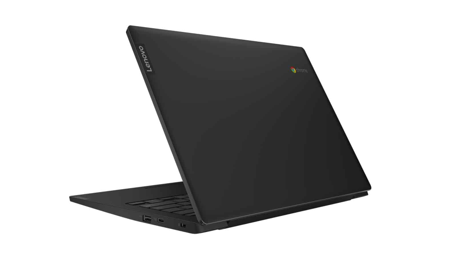 05 07  Chromebook S340 14 Onyx Black Rear Facing Left