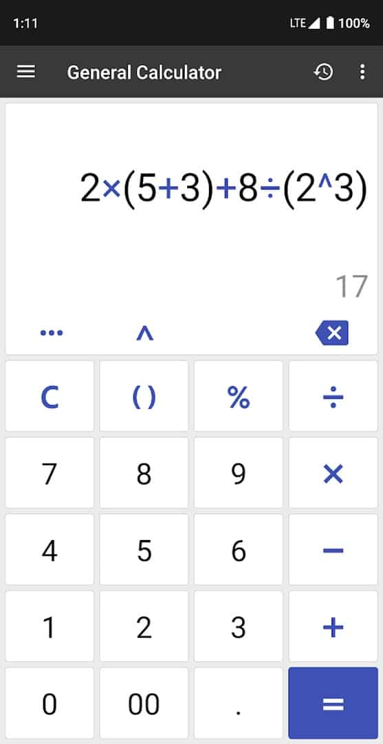 ClevCalc app image August 2019