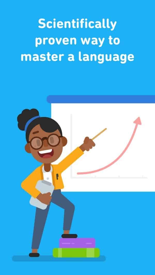 Duolingo app image August 2019
