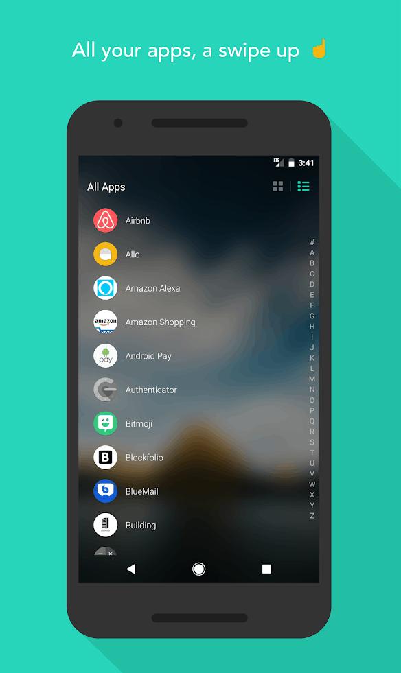 Evie Launcher app image August 2019