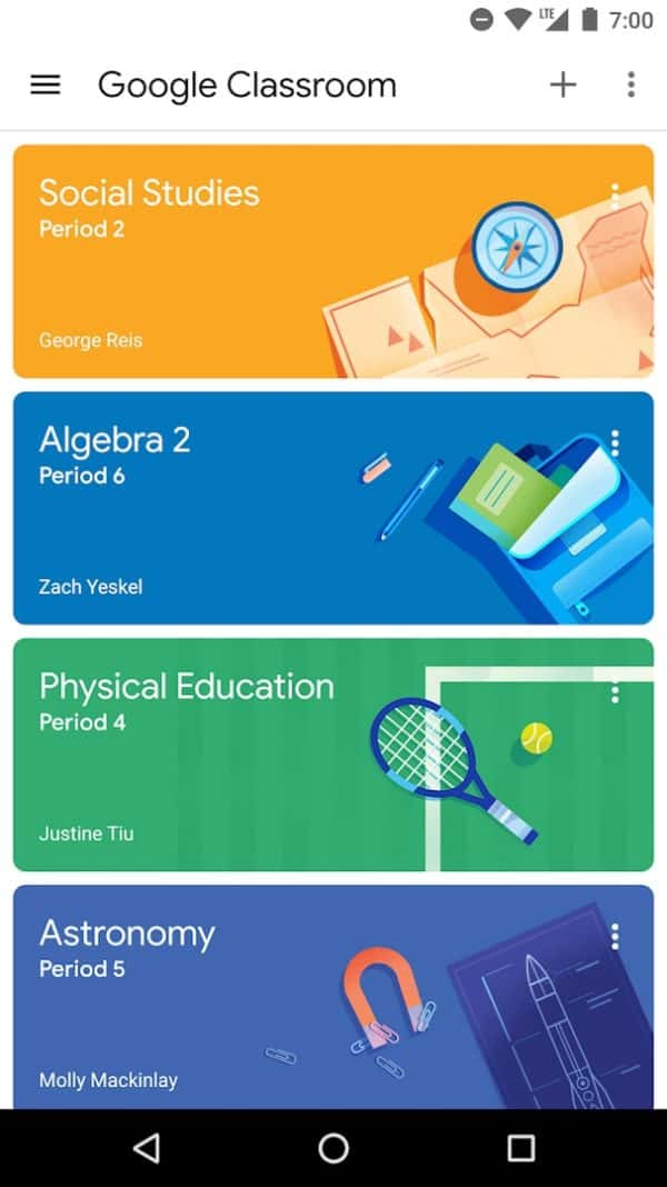 Google Classroom app image August 2019