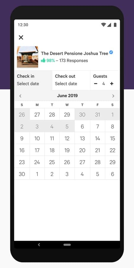 Hipcamp Phone %E2%80%93 Calendar View