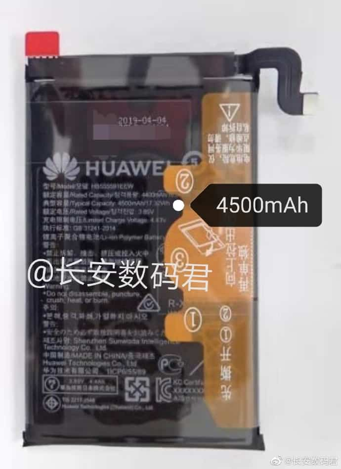 Huawei Mate 30 Pro battery capacity leak 1