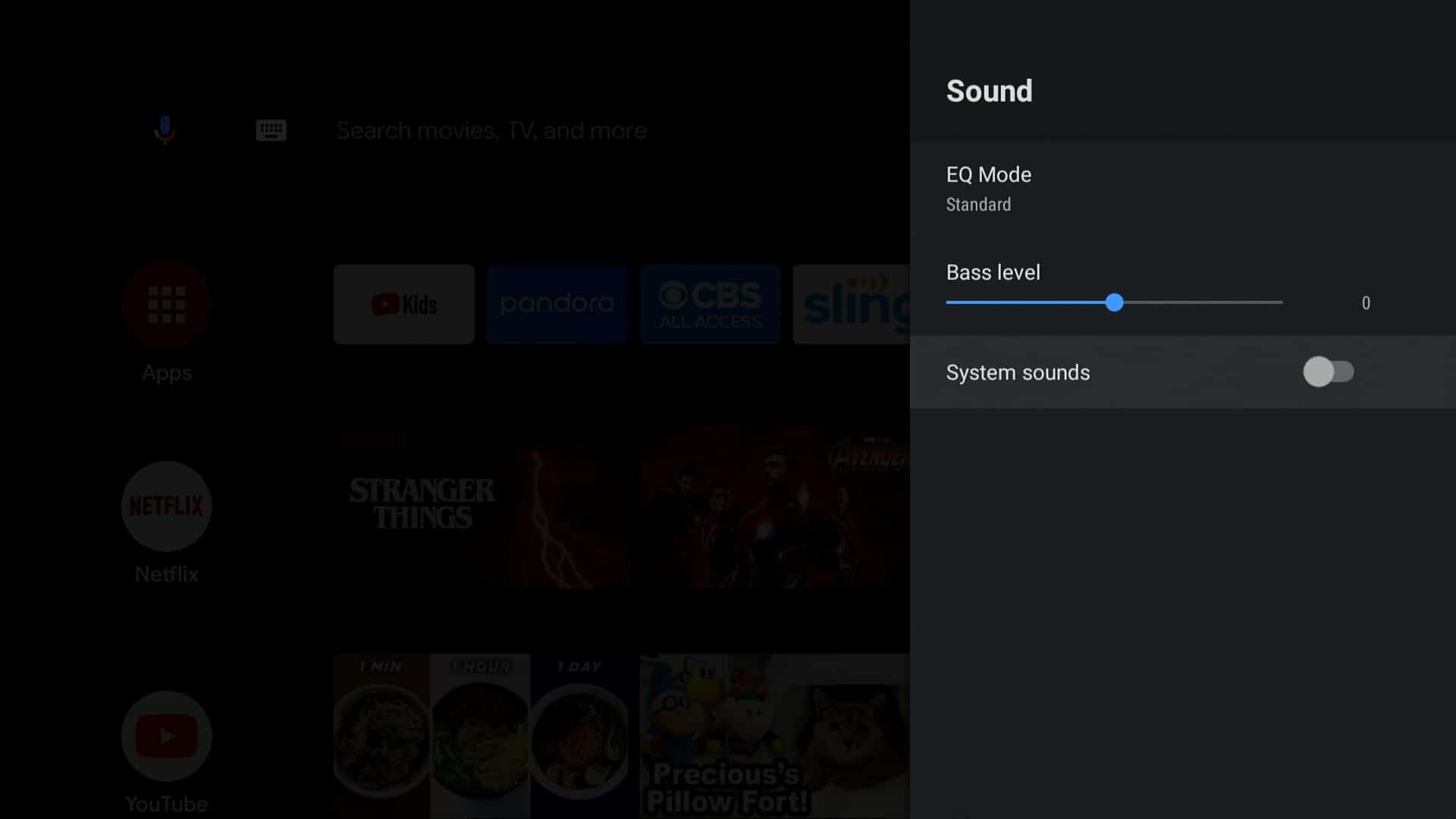 Android TV sound tweaks