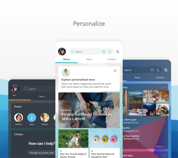 Microsoft Launcher app image August 2019