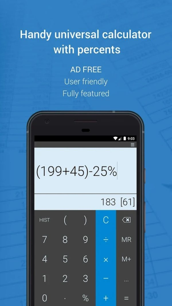 Mobi Calculator app image August 2019