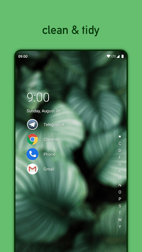 Niagara Launcher app image August 2019