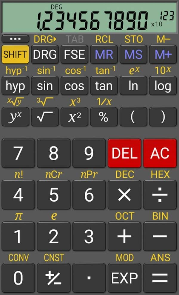 RealCalc app image August 2019