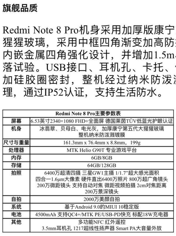 Redmi Note 8 Pro specifications leak 1