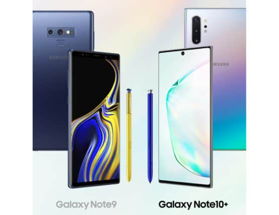 Samsung Galaxy Note 9 vs Galaxy Note 10 Plus infographic