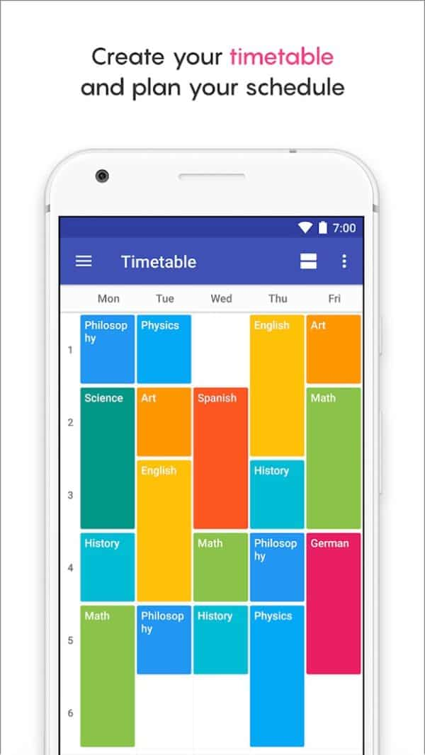 School Planner app image August 2019